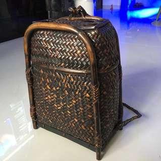 Handmade Indonesian Fisherman Rattan Backpack Bag