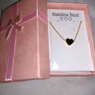Dainty Heart Stainless Gold Necklace