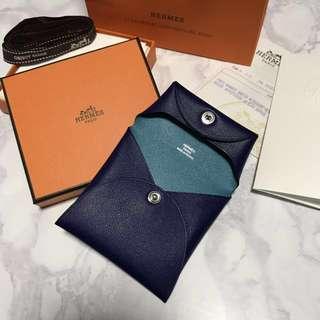 Hermes Bastia Bi-color Sikkim leather