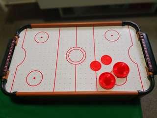 Mini foosball, billard, air hockey and table tennis