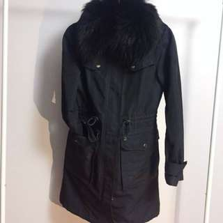 Burberry Brit Rain Trench w Fur