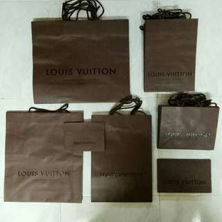 7 sizes LV paper bags