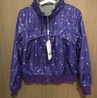 全新紫色雙面風褸外套