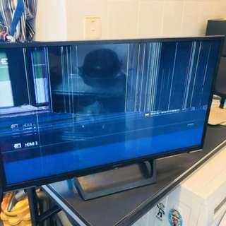 爆液晶電視一部Sony有遙控有火牛有包裝。連保養單慈雲山自取