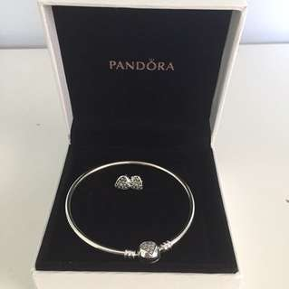 Pandora bracelet and earrings