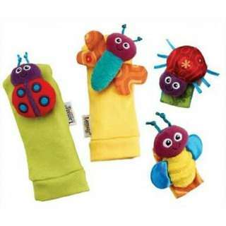 Lamaze Garden Bug Wrist Rattle and Foot Finder Set