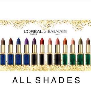 [PO] L'oreal Paris x Balmain Color Riche Lipstick