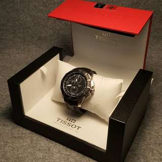 Preowned Pilot Style Mechanical Automatic Chronograph Tissot T-Series Watch With Box (NEGO)