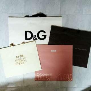 D&G / BV / Miu Miu / Coach 70th Anniversary Special Edition Paper Bags