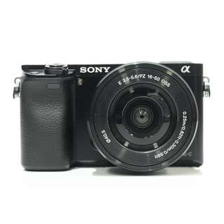 Sony A6000 Body with PZ 16-50mm OSS kit Lens (Black)