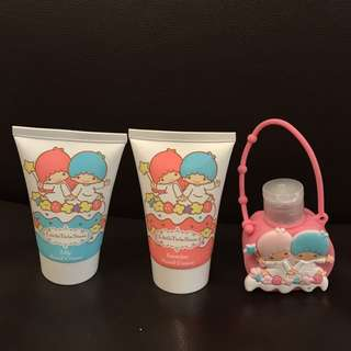 Brand new Little Twin Stars cheerful hand care set - 2 x hand cream and 1 hand sanitizer