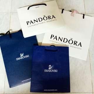 Pandora / Swarovski Paper Bags