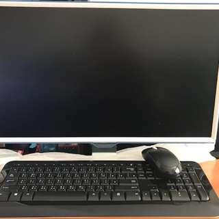 SAMSUNG電腦+無線鍵盤9成新