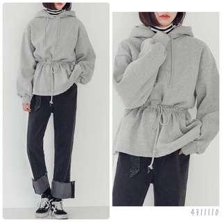 淨色連帽衛衣(Grey)