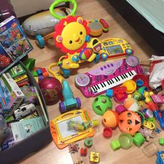Different kinds of toys