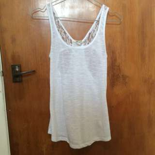 Jay Jay's singlet top with back cut outs and lace detailing.