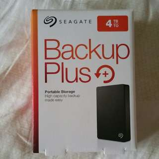 Seagate Backup Plus 4TB external HDD hard drive disk for Windows and Mac