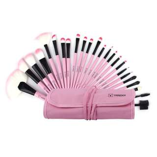 24 /32 pcs/kits Make Up Brush Set Professional Cosmetic Face & Eye Styling Tools + Bag