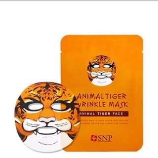 SNP Animal Mask Tiger Wrinkle Facial Mask