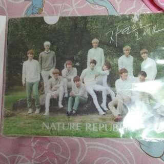 EXO nature republic代言A4 file