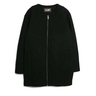 Mango wool bomber cocoon coat XS