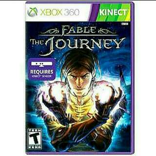 [Brand New] Xbox360 KINECT FABLE THE JOURNEY. ADditional Free Mystery Xbox360 game worth $19.90. Usual Price: $54.90  Clerance price : $ 14.90 +  Free Mail Postage (Brand New &  Sealed) . Whatsapp 85992490 To Pick Up from Any Mrt Stn In Town.