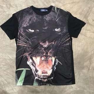 Kaos Topman dengan motif panther