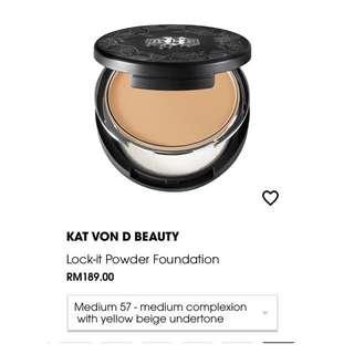 MARKDOWN- Kat Von D Lock it Powder Foundation