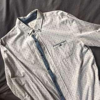 Cotton On Grey Brunswick Longsleeves Polo