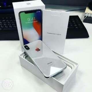 IPhone x 64Gb Silver Cash Or Kredit Tanpa CC Proses 30 Menit Cair