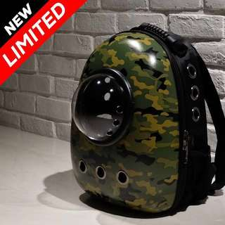 """""""Camouflage"""" Astronaut Capsule Cat Bubble Backpack Carrier"""