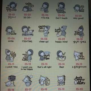 Cooky女孩系列 - 韓國防幅射貼紙Ponybrown 24K 手機貼紙 (每款均是$3張,包本地郵寄費用不包掛號)
