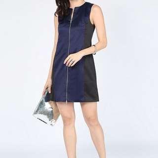 Love Bonito Zuzela Zipper Colour Block Dress