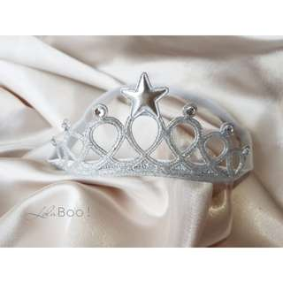 Baby Crown Headband - Silver