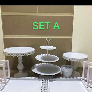 Cake Stand, Dessert table, plates, tray, cupcake stand