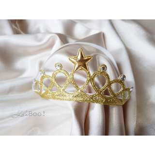 Baby Crown Headband - Gold