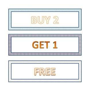Buy 2 Free 1 (Please Read Description)