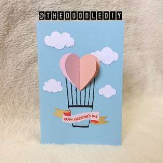 """""""Love's in the air"""" Valentine's Day Card"""