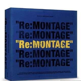 (PRE-ORDER) Re:Montage REPACKAGE