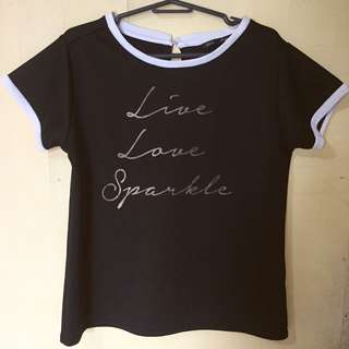 For me live love sparkle top