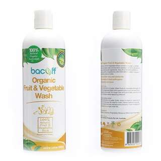 Organic fruits and vegetables wash