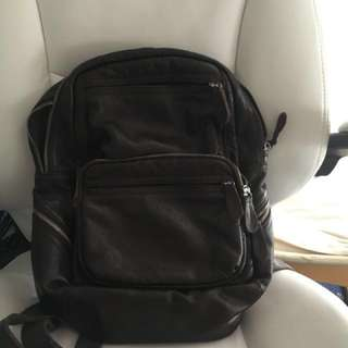 BROWN UNI BACKPACK LEATHER