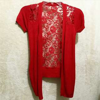 Red Cardigan  fit to S/M/L