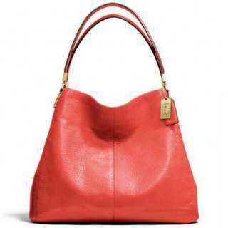 Coach Madison Leather Small Shoulder Bag (Limited Red colour)