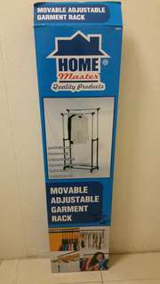 Movable adjustable garment rack