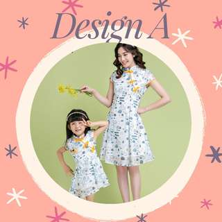 Mother & Daughter Girl CNY Outfit (Ready stock) Free postage for limited time!