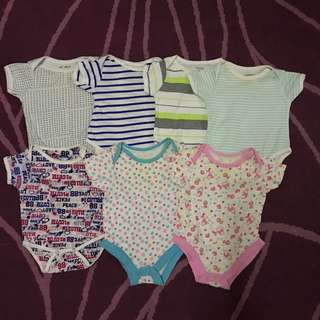 Assorted Rompers 0-3months