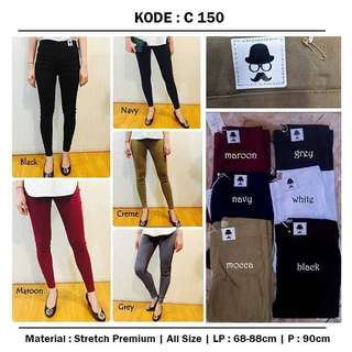 jegging pants putih