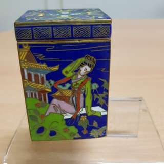 Vintage Cloisonne Container with Lid