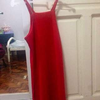 Red Slitted Sides Dress